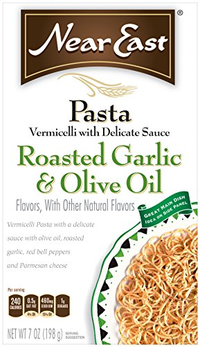 Near East Roasted Garlic & Olive Oil Vermicelli Pasta Mix (Pack of 12 Boxes)