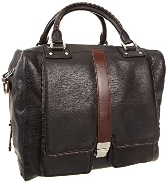 botkier Gabriel 1215114 Satchel,Black Cowhide,One Size