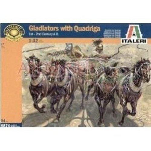 Gladiators with Quadriga 1/32 Italeri