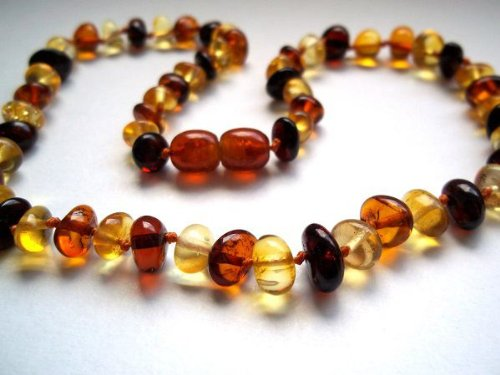 Bouncy Baby Boutiquetm - An21 - Adult Multicolor Certified Authentic Baltic Amber Healing Necklace front-553273