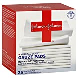 Johnsons Gauze Pads, Hospital Grade, Large Sterile, 25 gauze pads
