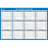 "Blue Sky 2016 Horizontal & Vertical Laminated Planner, 36"" x 24"", Blue (17658-W)"
