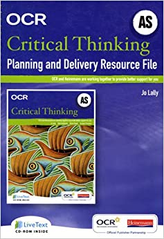 as level critical thinking resources Ocr as/a level gce critical thinking qualification information including specification, exam materials, teaching resources, learning resources.