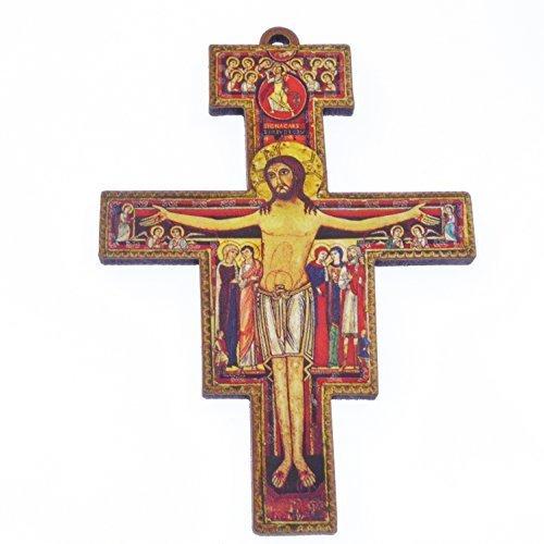 cristianita-145cm-st-francis-di-assisi-muro-croce-in-legno