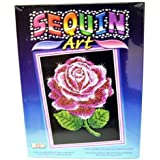 Ksg Arts and Crafts Sequin Art 1001 Red Rose Picture Kit Containing 275mm x 370mm Polystyrene Framed Pre Printed Picture