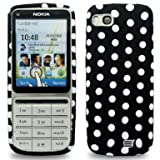 GVAccessories Nokia C3-01 Black & White Polka Dot Gel Case