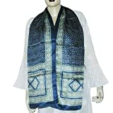 Fashion Scarfs for Women Printed Satin Silk Size 55 X 182 Cmsby ShalinIndia