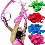 Eforstore 4M Dancing Ribbon Streamer Dance Baton Gym Rhythmic Ribbons with Wand Art Artistic Gymnastics Ballet Twirling Rod Stick for Women Girls Kids by Eforstore