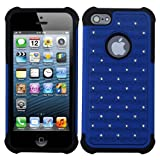 Product B00BQ6KGDI - Product title MYBAT AIPHONE5HPCTDEF204NP Luxurious Lattice Dazzling Total Defense Dual Layer Protective Cover for iPhone 5 / iPhone 5S - 1 Pack - Retail Packaging - Dark Blue/Black