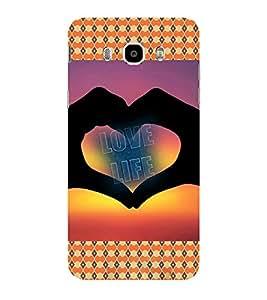 ifasho Designer Phone Back Case Cover Samsung Galaxy On8 Sm-J710Fn/Df ( Black White Orange Colorful Pattern Design )