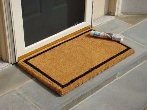 Black Border Coco Coir Doormat  Heavy Duty Doormats  22