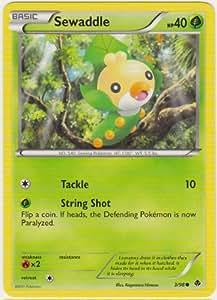 Pokemon - Sewaddle (3) - Emerging Powers - Reverse Holo