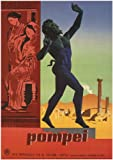 POMPEII Italy - Vintage Italian Travel Poster by Mario Puppo - 1955 - A4 Matte Finish (210 x 297mm)