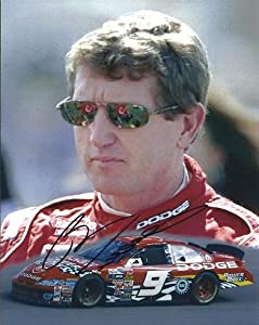 Bill Elliott Autographed Hand Signed Racing 8x10 Photo by Real Deal Memorabilia