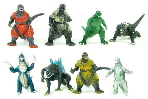 Sale alerts for Hong Kong 4 U Godzilla Mini Figures Set Of 8 - Covvet