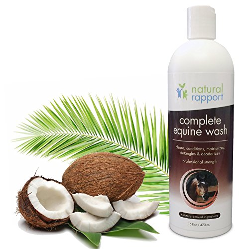 Natural Horse Shampoo - Complete 5-in-1 Natural Equine Shampoo and Conditioner - Cleans, Conditions, Deodorizes, Moisturizes & Detangles horse's coat, mane and tail - 16 fl oz (Used Horse Trailers compare prices)