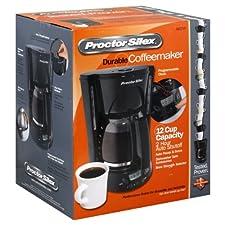 Proctor Silex Coffeemaker, Durable, 12 Cup Capacity, 1 coffeemaker