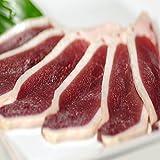 美味しくてヘルシーな鴨鍋セット 鴨ロース肉 500g 肉団子5個 特製スープ付!
