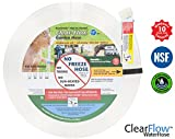 Clear Flow® Garden Water Hose (25 ft) the Perfect Expandable, Flat Polyurethane Hoses - No Kink, Small & Retractable! 5/8