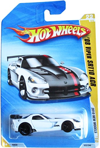 HOT WHEELS 2010 NEW MODELS 22 OF 44 WHITE '08 VIPER SRT10 ACR - 1