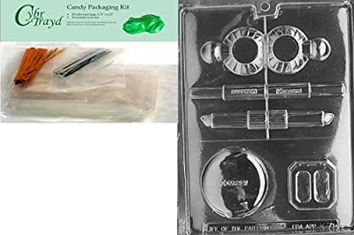 Cybrtrayd Makeup Kit Chocolate Candy Mold with Exclusive Cybrtrayd Copyrighted Chocolate Molding Instructions