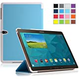IVSO Slim Smart Hülle Tasche Case Schutzhülle Cover für Samsung Galaxy Tab S 10.5 Tablet - mit Standfunktion und automatischem Sleep/Wake funktion (Für Samsung Galaxy Tab S 10.5, Blau)
