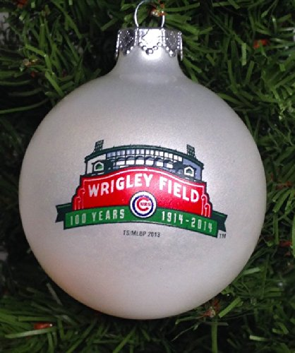 Wrigley Field Anniversary Ornament Celebrating Chicago Cubs