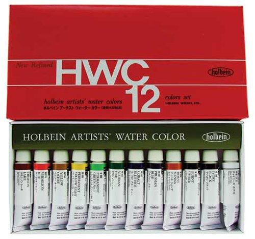Artists holbein pascal friedrich uG w401 watercolor - 12 tubes de peinture aquarelle-je - 5 ml)