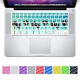 DHZ® New Arrival Green Beach With Coconut Tree Tropical Keyboard Cover Silicone Skin for MacBook Air 13\