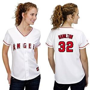 MLB Los Angeles Angels Ladies Josh Hamilton 5 Button 32 Replica Jersey by Majestic