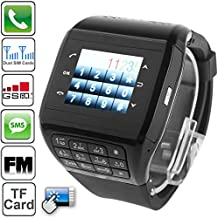 Generic Q8 Smart Watch Phone, Silica Gel Belt Design, Bluetooth / FM Radio, Dual SIM, Network: 2G(Black)