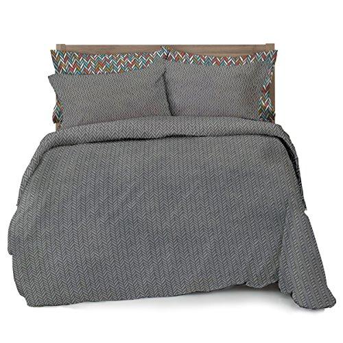 Gray Herringbone Coverlet : Herringbone bedding sets