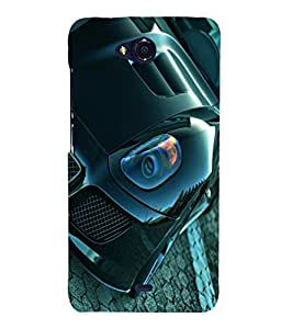 printtech Superfast Car Back Case Cover for Micromax Bolt Q335