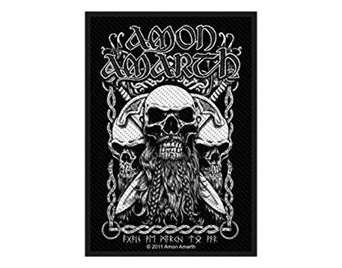 Amon Amarth - Bearded Skull - Toppa/Patch - SPEDIZIONE GRATUITA