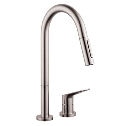 Hansgrohe  34822801 Citterio M Hole Kitchen Faucet, Steel Optik