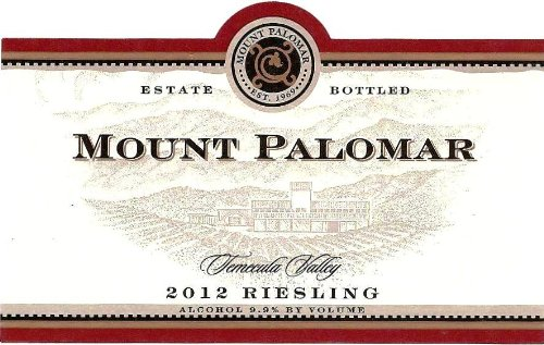 2012 Mount Palomar Riesling 750 Ml