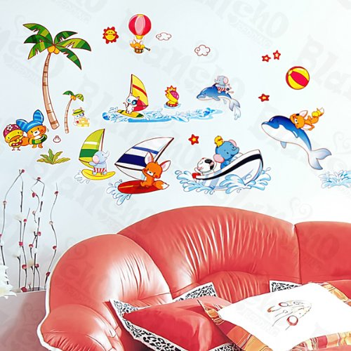 Happy Surfing - Wall Decals Stickers Appliques Home Decor