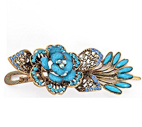 Jackie Lovely Vintage Jewelry Crystal Peacock Hair Clips - for hair clip Beauty Tools