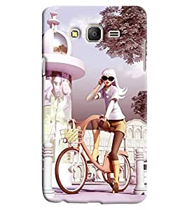 Clarks Girl On Bicycle Hard Plastic Printed Back Cover/Case For Samsung Galaxy On 5