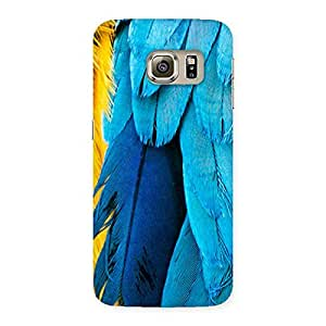 Special Blue Feathur Back Case Cover for Samsung Galaxy S6 Edge Plus
