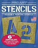 Pro Art 6-Inch Painting Stencil Set, Letters and Numbers