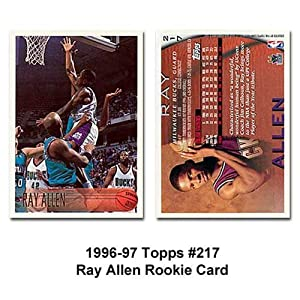 amazoncom topps milwaukee bucks ray allen 199697 rookie