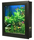 Aquavista 500 Wall Mounted Aquarium with Seaweed Background, Black Frame