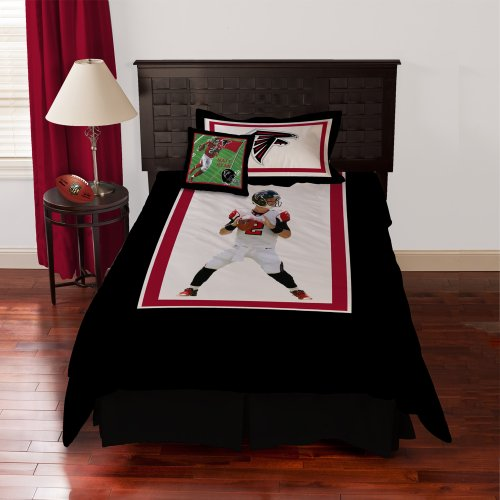 NFL Biggshots Bedding - Atlanta Falcons Matt Ryan Comforter Set and Toss Pillow, Twin at Amazon.com