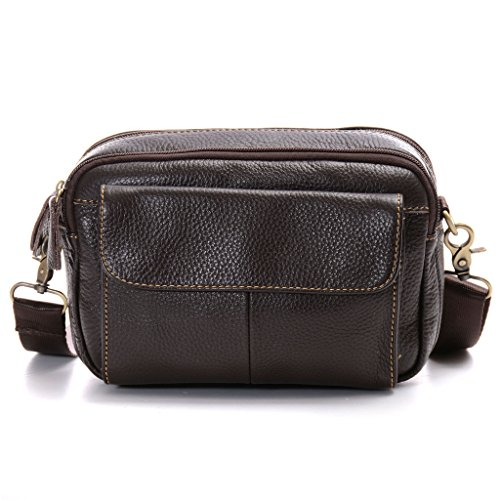 ba8a0cbd392 Multiple Pockets Leather Waist Pack,Lanspace Tactical Unisex 3 Ways  Crossbody Shoulder Waist