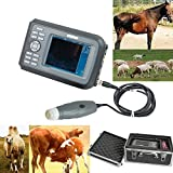 Denshine Handheld Veterinary Vet B Sound Scanner Machine with 3.5MHz Mechanical Sector Probe Diagnosis for Pet Farm Animal Horse Equine Cow Sheep etc - US Shipping
