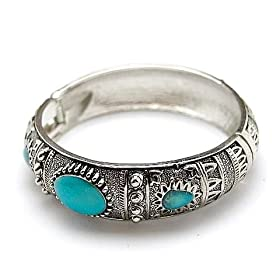 lead compliant brighton look cuff bracelet (turquoise color)