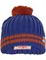 Tokyo Laundry Unisex Baber Ribbed Knitted Stripe Winter Warm Bobble Hat