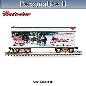 Budweiser Personalized HO-Scale Holiday Train Car