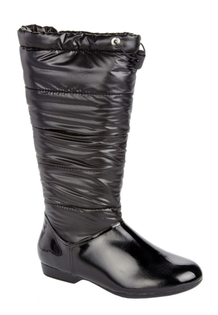 Jessica London Raindrop Quilted Weather Boot Black,9 M